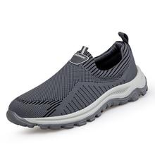 Walking-Shoes Soft-Sneaker Comfortable Female Slip-On Casual Women Mesh Lightweight Unisex