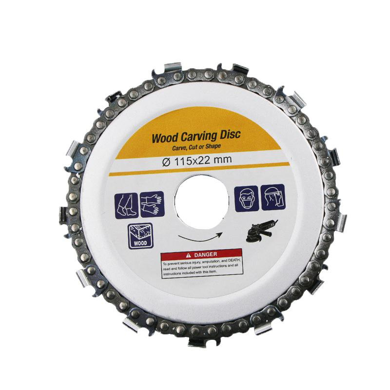 Wood Carving Disc Woodworking Chain Grinder Chain Saws Disc Chain Plate Tool For 115MM Angle Grinding  4.5 Inch