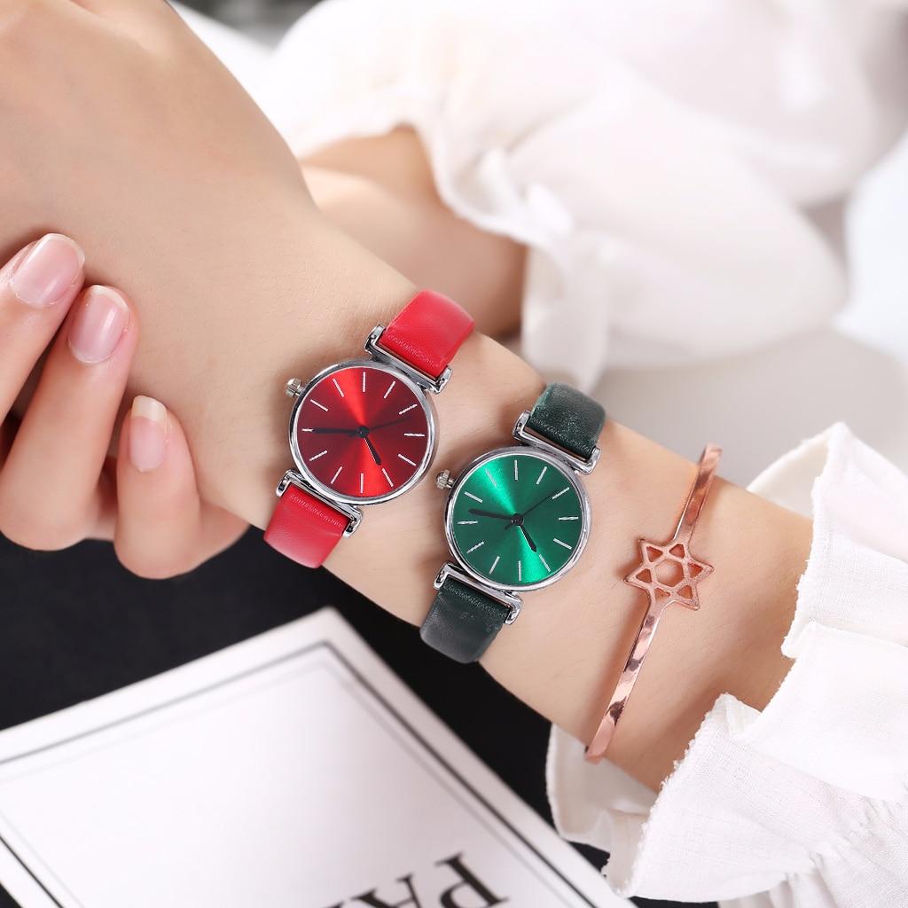 Women Leather Mini Design Quartz Watches Casual Ladies Simple Dial Watch Clock Relogio Feminino Drop Shipping