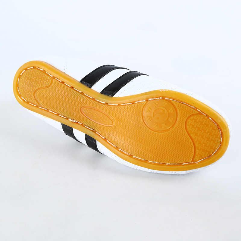 أحذية للرجال من التايكوندو أحذية بيضاء للأولاد والبنات للجنسين وو شو أحذية الكونغ فو أحذية داخلية للأطفال ملاكمة فنون الدفاع عن النفس أحذية رياضية للمصارعة تاي تشي