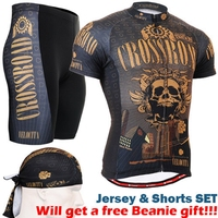 2020 bike clothes sets gold skull sublimation cycling jersey sets with riding shorts 3d gel padded size s 3xl