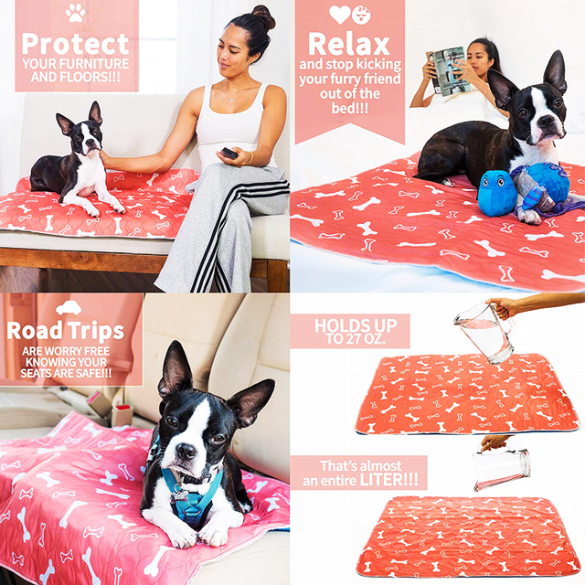 Dropshipping Waterproof Reusable Dog Bed Mats Dog Urine Pad Puppy  5