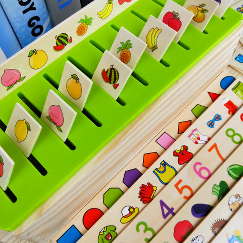 Mathematical Knowledge Classification Early Learn Matching Kids Montessori Early Educational Learn Toy Wooden Cognitive Matching 3