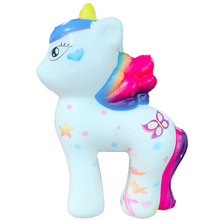 New Colorful Cute Unicorn Squeeze Toys Cartoon Doll Squishy Soft Slow Rising Stress Relief Joke Fun Xmas Gift Toys for Children