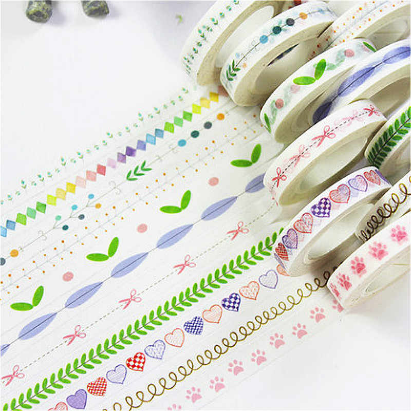 A Reel of Kawaii Washi Tape Scrapbooking DIY Label High-quality Lovely Pretty Sticker Masking Tape School Office Supply