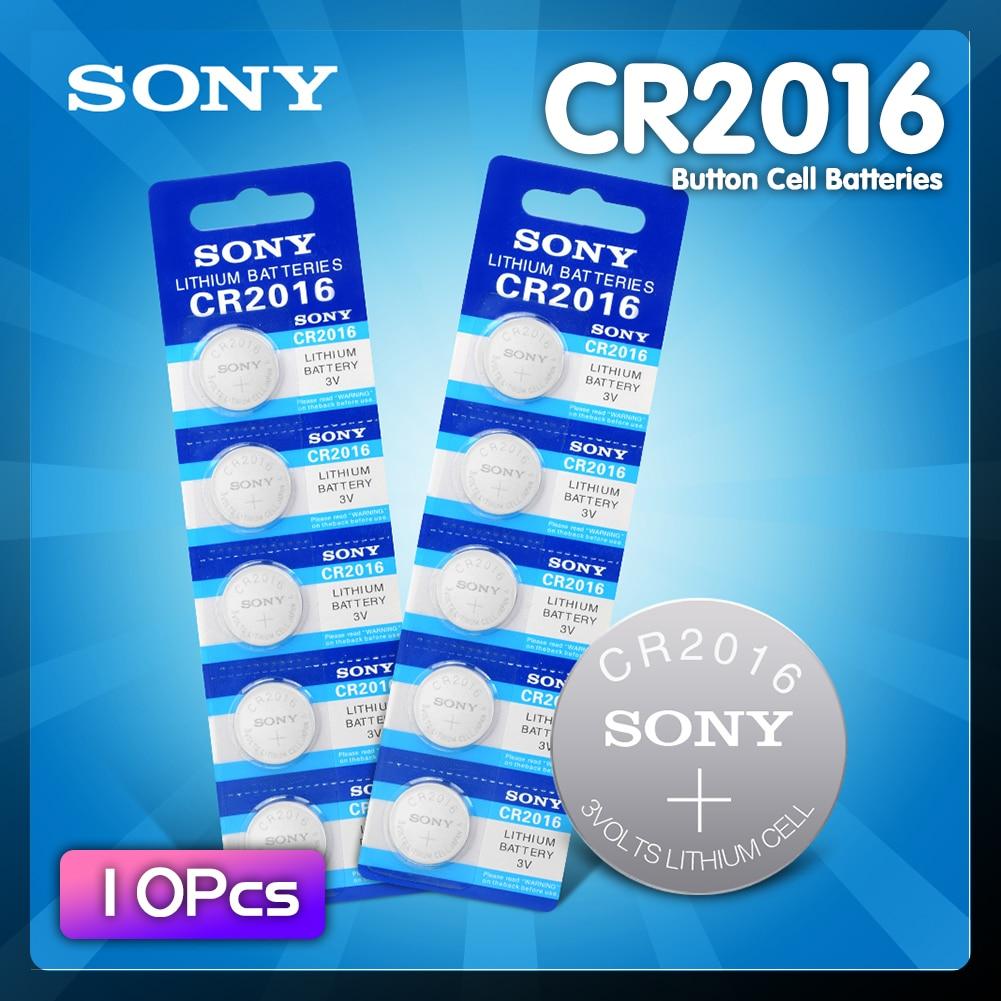 10 шт. для Sony CR 2016 3V литиевая батарея для монет DL2016 KCR2016 CR2016 LM2016 BR2016 Высокая плотность энергии Часовые батарейки      АлиЭкспресс
