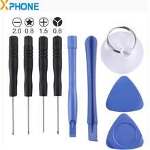 9 em 1 Reparação Kit de Ferramentas de Desmontagem Do Telefone Móvel (4 x Chave De Fenda + 2 x Hastes Desmontagem + 1 x Chuck + 2 x em Fatias Grossas)