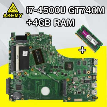 For ASUS A750J K750J K750JB X750JB X750JN laptop Motherboard Mainboard test 100% OK  i7-4500 GT740M/2GB  free Heatsink+4GB RAM - DISCOUNT ITEM  7% OFF All Category