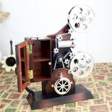 Винтажная пластиковая музыкальная шкатулка под старину ювелирный проектор Модель украшения музыкальные шкатулки для детей день рождения свадьба подарок игрушка Музыкальная Коробка