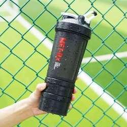 Siłownia użyj odżywka białkowa butelka Shaker butelka wody na użycie na zewnątrz 500ml w Shakery od Dom i ogród na