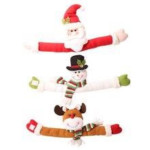 Xmas New Year Christmas decoration supplies Small creative curtain buckle Cartoon Santa Claus snowman elk