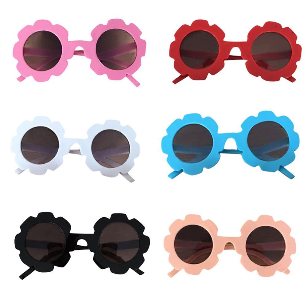 2020 Kids Sunglasses Sun Flower Round Cartoon Child Sun Glasses Toddler Lovely Baby Girls Boys Oculos De Sol Photo Props
