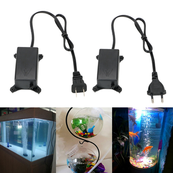 цена на HOOMIN Aquarium Fish Tank Oxygen Air Pump EU/US Plug Ultra Silent High Energy Efficient Aquatic Terrarium Fish Tank Accessories