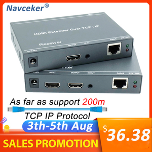 2020 ZY-DT209 RJ45 HDMI Extender IP Over UTP/STP CAT5 CAT5e CAT6 Extensor HDMI With IR LAN Network 200m HDMI Extender Ethernet(China)