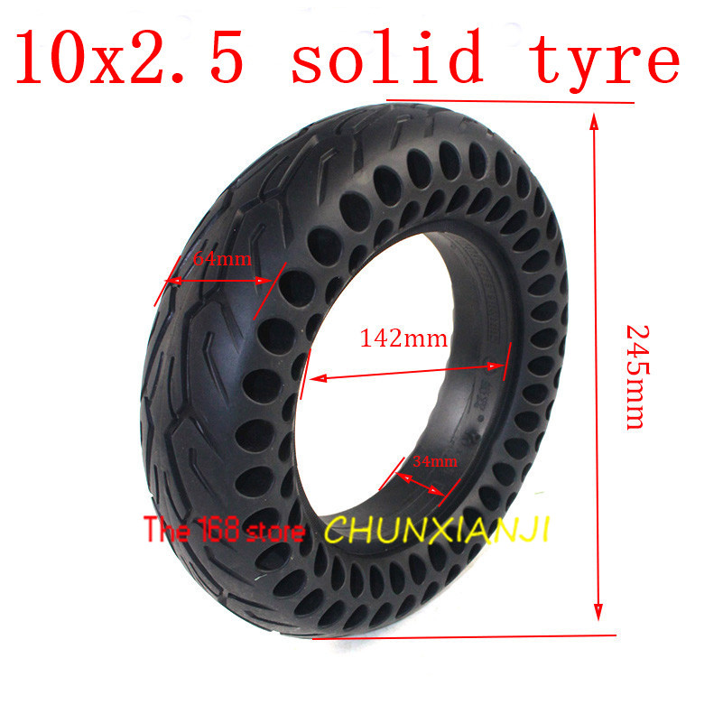 High quality 10x2.50 Double Honeycomb Solid Tyre <font><b>10*2.5</b></font> Tubeless <font><b>Tire</b></font> Honeycomb Wheel Tyre for Electric Scooter Skate Board image