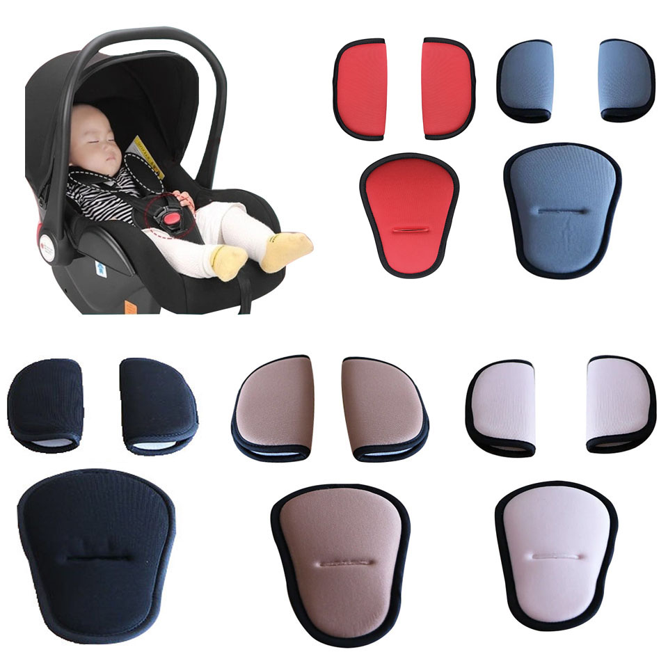 Stroller Belt Strap Covers Soft Shoulder Pads Crotch Pad For Baby Car Seat Infant High Chair Harness Stroller Accessories 3pcs