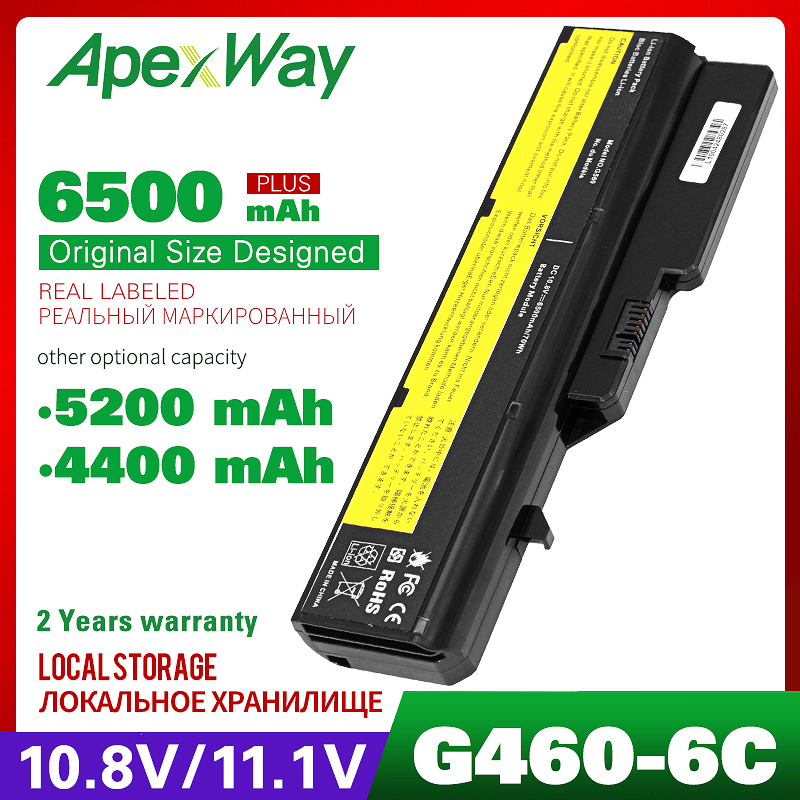 Apexway Battery For Lenovo IdeaPad 57Y6454 57Y6455 L09S6Y02 B470 B475 B570 Z370 Z570 Z565 Z470 V360 V370 V470 V570 Z460 Z560-in Laptop Batteries from Computer & Office on
