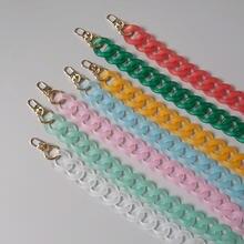 Цепочка для ключей из акриловой смолы ярких цветов в винтажном