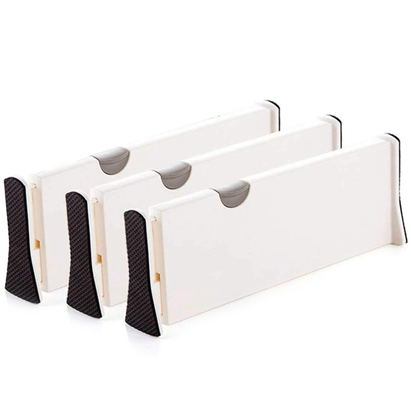 Dresser Drawer Organizers, Expandable Drawer Organizer/Divider - For Bedroom, Bathroom, Closet, Office, Kitchen Storage - 3 Pack