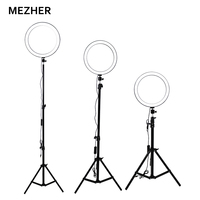 Mezher 26cm photography dimmable led ring Selfie Lamp Photo Studio Equipment Photography Ring Lingt With Mobile Holder &Tripod.