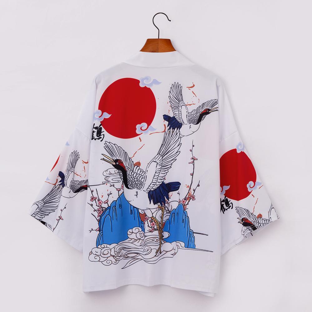 Japanese Kimono Yukata Kimono Cardigan Fashion Blouse Women 2020 Long Obi Cardigan Haori Traditional Kimonos Shirt