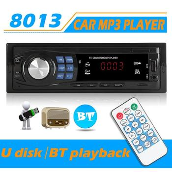 1 DIN Car Radio Autoradio Stereo Audio MP3 Player Bluetooth USB AUX FM 1Din 12V Auto Radio image