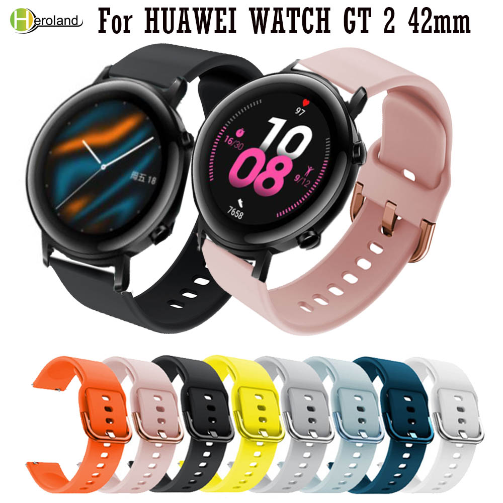 20mm Belt Printing Silicone Watchband Strap For HUAWEI WATCH GT 2 42mm Bracelet WristBand Strap For Huami Amazfit BIP Youth Lite