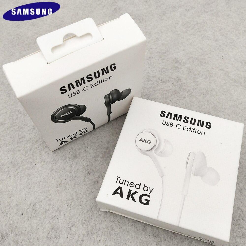 Samsung Galaxy Note 10 S20 плюс Тип C наушники-вкладыши проводной микрофон Регулятор громкости USB-C гарнитура для S21 S20 Примечание 20 Ультра A80 A90