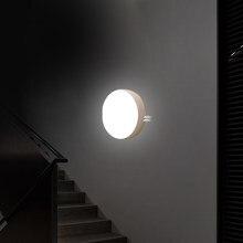 Usb sensor de movimento led night light recarregável de poupança de energia quarto banheiro escadas lâmpada indução corpo inteligente