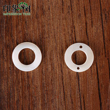 1pcs 15mm Circle Ring Shell Beads Natural MOP Seashells Spacer Beads Accessories Shell Earring Necklace DIY Jewelry Making 1925(China)