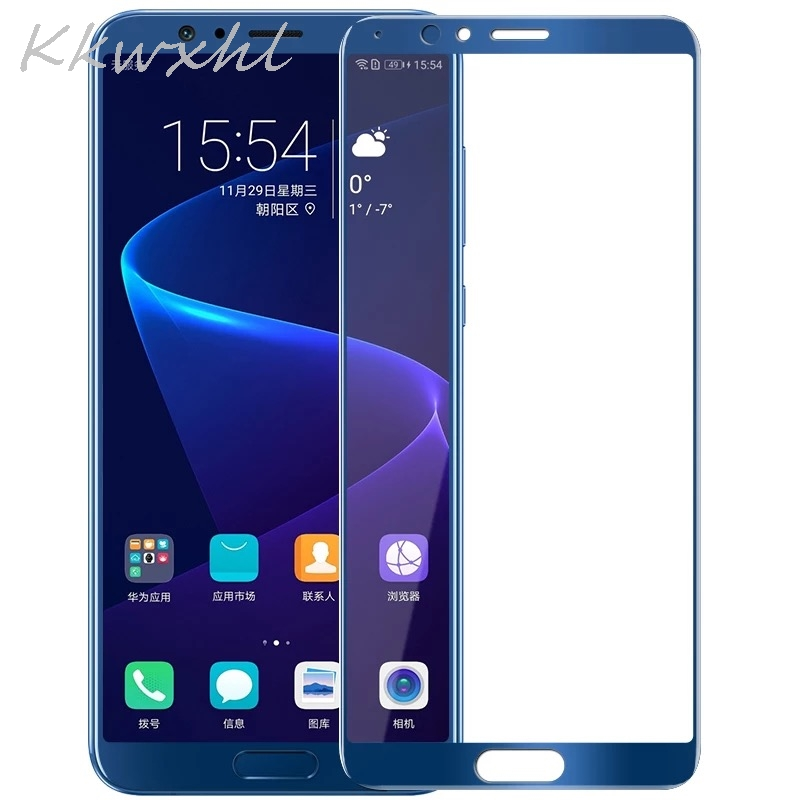For Huawei Honor View 10 5.99 Glass Screen Protector Tempered Glass Full Cover Protective Film for Honor V10 image