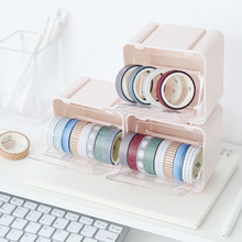 Washi Tape Storage Box Visible Desktop Multi Washi Masking Tape Dispenser Roll Tape Holder