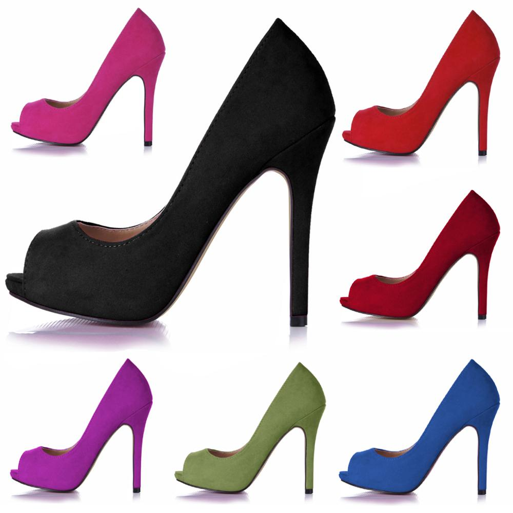 CHMILE CHAU Suede Sexy Dress Party Women Shoe Peep Toe Stiletto High Heel Supermode Vogue Lady Pumps Plus Sizes Zapatos Mujer T8