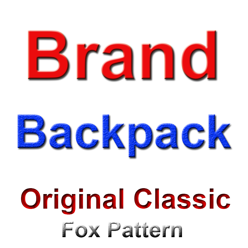 Luxury Famous Classic Fox Kan Backpack Laptop Bags Waterproof Backpack Canvas Childr Mini Mochilas Backpack Students Schoolbag