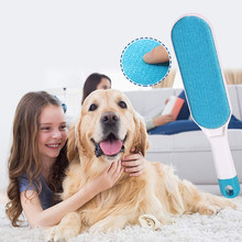 Dog Comb Pet Hair Remover Brush Cleaning Convenient Dog Cat Hair Brush Base Double-Side Pet Grooming Brush Supplies For Dogs Cat double side pet fur dog brush comb rake hair brush cat grooming deshedding trimmer tool dog comb pet brush rake 12 23 blades