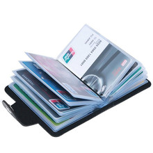 PU Leather Business Card Holder Men Women Bank Credit Card Holder Bag ID Card Wallet Contact Customer Service To Receive A Free