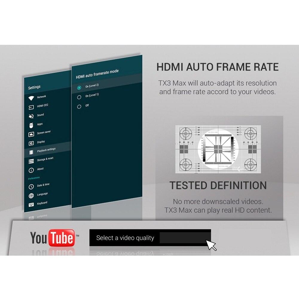 Image 5 - Smart tv caixa android 9.0 tanix tx3 max amlogic s905w media  player h.265 4 k 2 gb 16 gb bluetooth tx3max conjunto caixa  superiorConversor de TV