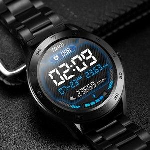 Image 5 - DTNO.I ساعات رجالية ذكية, ساعة رجالية ذكية موديل DT98 ساعة ذكية IP68 مقاومة للماء 1.3 شاشة كاملة الدقة عالية الدقة للكشف عن تخطيط القلب وعناصر متعددة لتتبع اللياقة البدنية للرجال