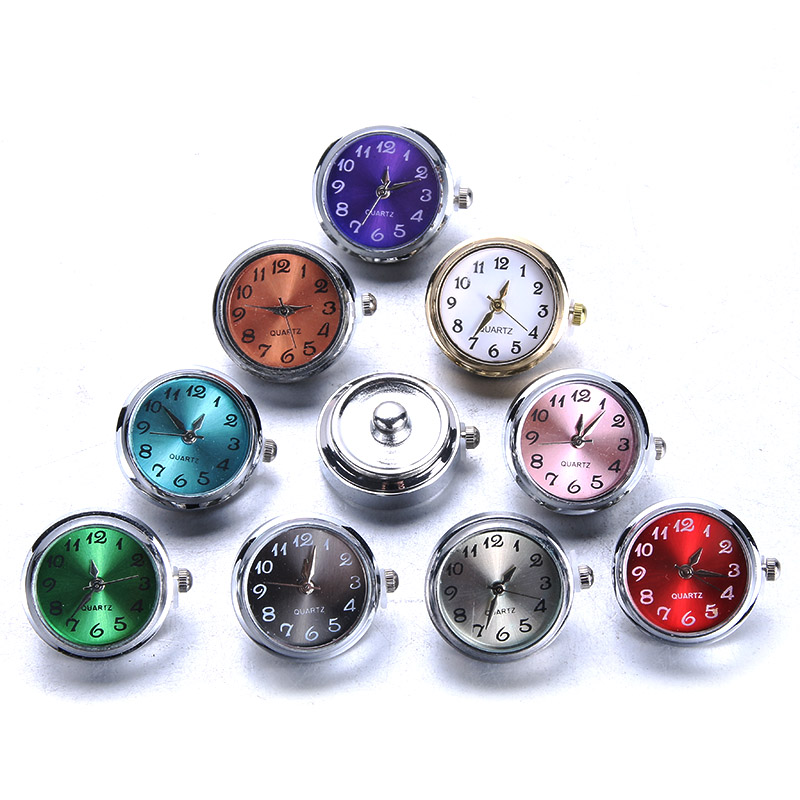 DIY Snap Jewelry 18mm Glass Watch Snap Buttons Interchangeable Jewelry Accessory Snap Button Jewelry for Snaps Bracelet