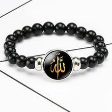 Böhmischen Perlen Allah Armband Männer Frauen Handgemachte Vintage Klassische Armband Allah Zeit Edelstein Perlen Schmuck Geschenk