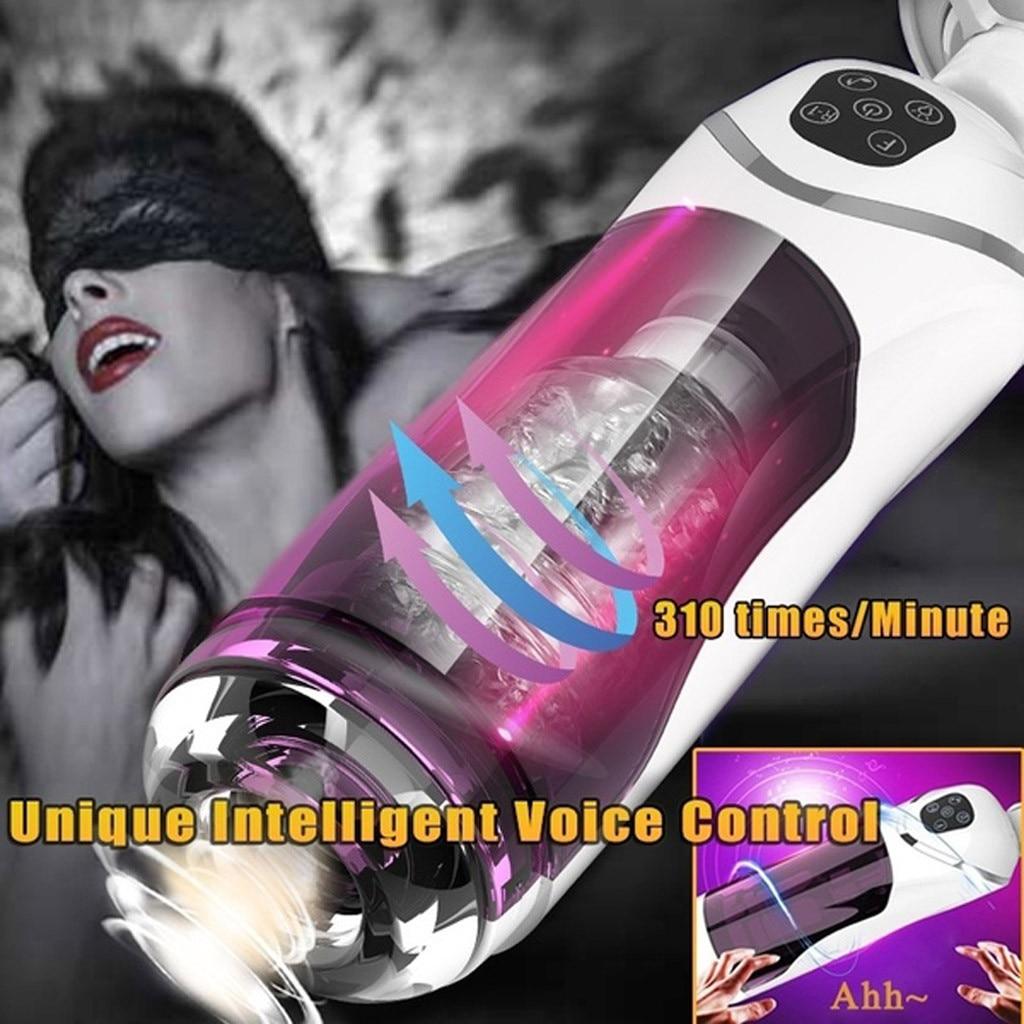 Elétrica automática rotação telescópica masturbador masculino moan masturbação interativa copo poderoso sexo máquina brinquedos bichano 08