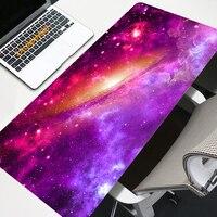 Galaxy Maus Pad Große 90x40 cm kawaii gaming zubehör Computer Schreibtisch LED Mousepad XXL Nicht-slip tastatur lange Große Maus Matte
