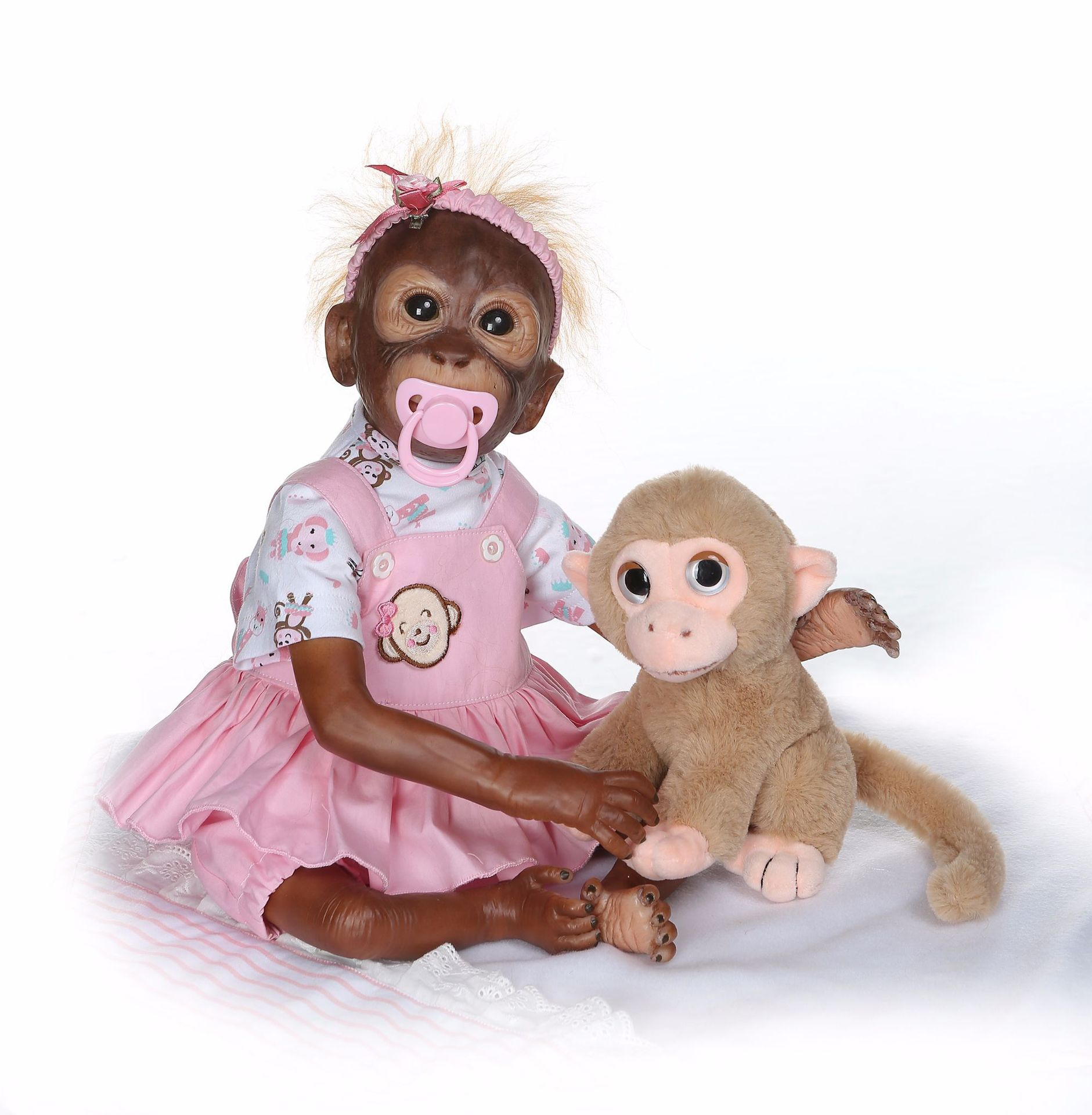 NPK New Style Cute Twins Monkey Doll Send Children Creative Gifts