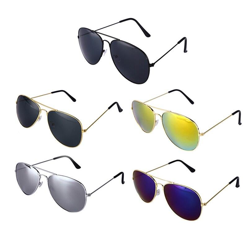 Aviator Sunglasses Unisex Retro Round Circle Metal Frame Eyeglasses UV400 Camping Hiking Eyewear For Men Women