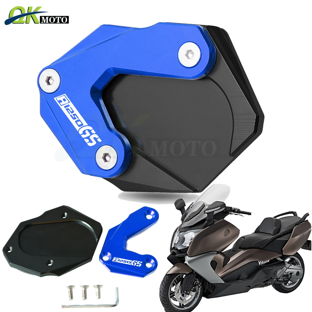 Motorcycle Side Stand Enlarge Kickstand Extension Plate Pad CNC Aluminum For BMW R 1250GS R1250gs R1250gs 1G13 K50 2018-2019