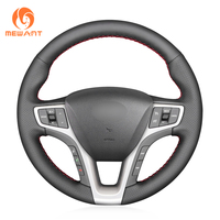 Black Artificial Leather Car Steering Wheel Cover for Hyundai I40 2011 2019