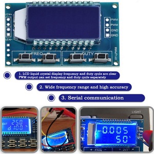 1Hz-150Khz Signal Generator Module Adjustable PWM Frequency Function Generator Duty Cycle LCD Display 5V DC 12V 24V