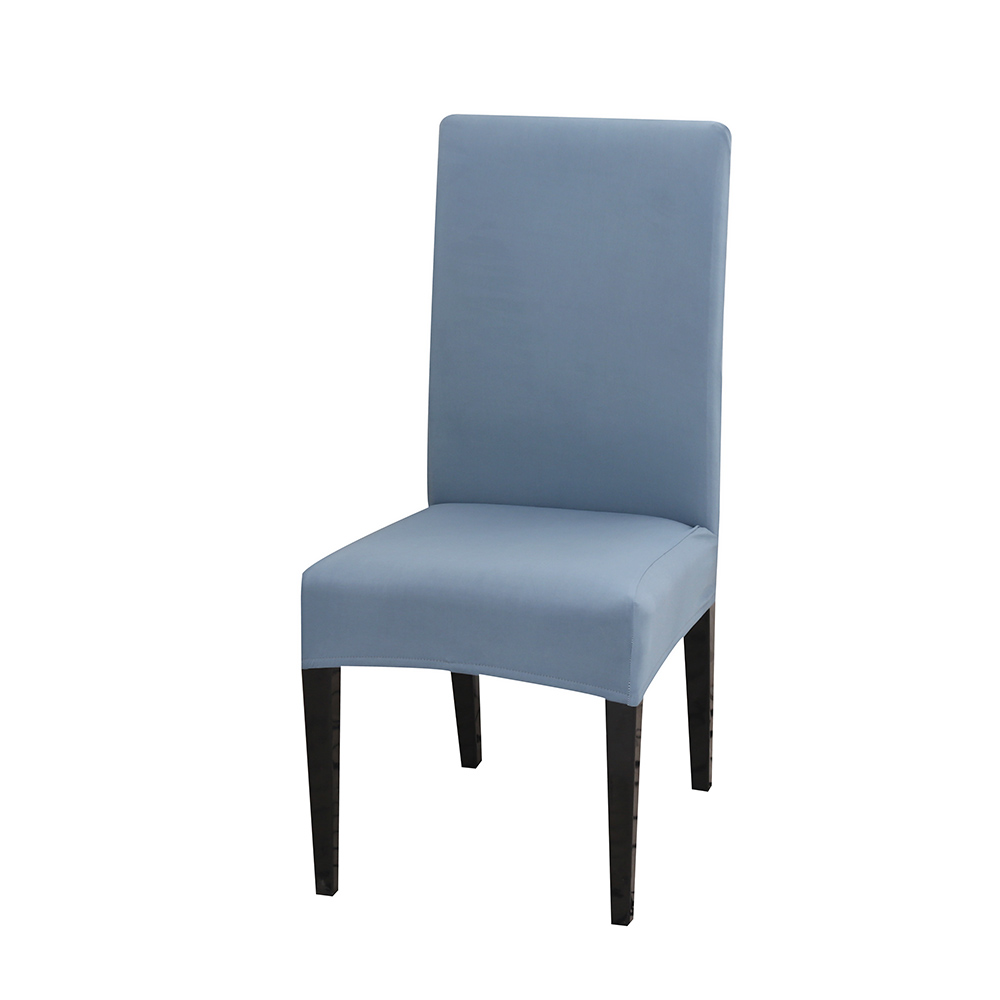 Solid Color Chair Cover of Spandex Material with Elastic for Dining Room and Wedding Hall 19