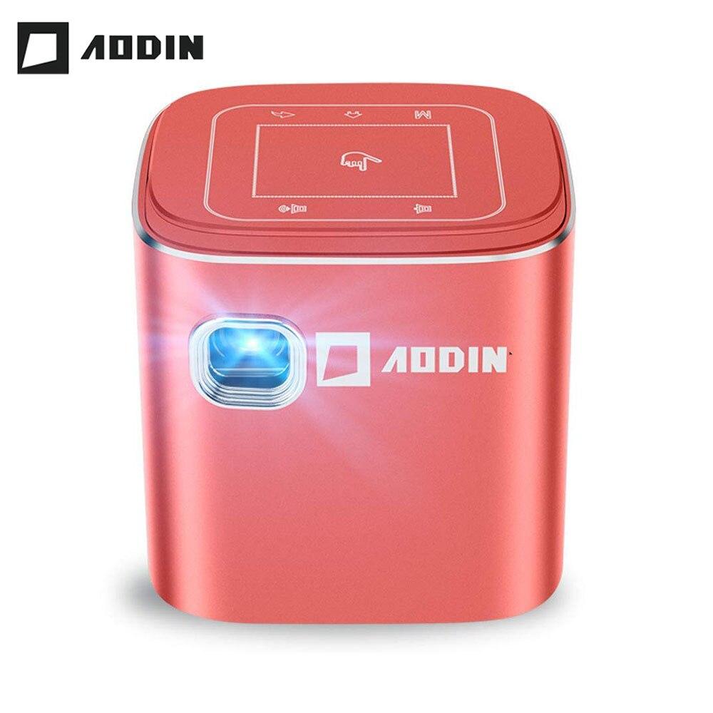 AODIN Fusion 50Ansi Lumens WIFI mini projecteur portable DLP LED projecteur de télévision, prise en charge 1080 P, flux 50000 + TV/films