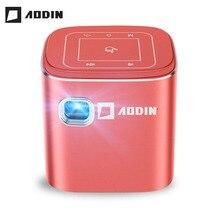 AODIN Fusion 50Ansi Lumens WIFI portable mini projector DLP LED TV projector Support 1080P Stream 50000